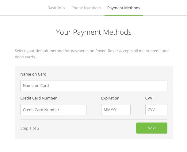Removing name from credit card